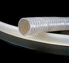 65 Braided Silicone Tubing, 1/4 ID X 1/2 OD, 25 ft.