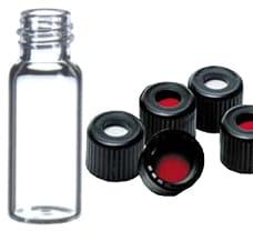 2ml / 1.8ml Vial Clear with Screw Cap Black