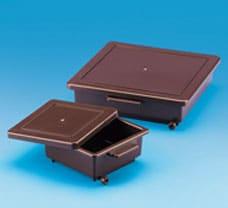 Staining Box Amber PP 22.5 X 22.5 X 5 (L X B X H cm)