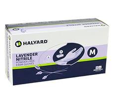 Lavender Nitrile Exam Gloves M