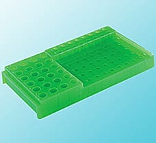 PCR Workstation Rack With Lid, PP, Tube Capacity-2 ml-P11103