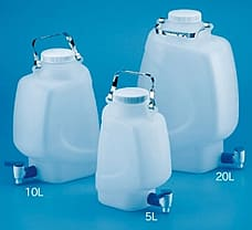 Rectangular Carboy with Stopcock, PP, 20 lts.-683260