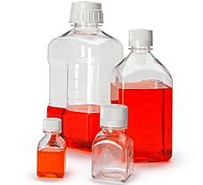 Square Media Bottle, Sterile, PETG;250 ML